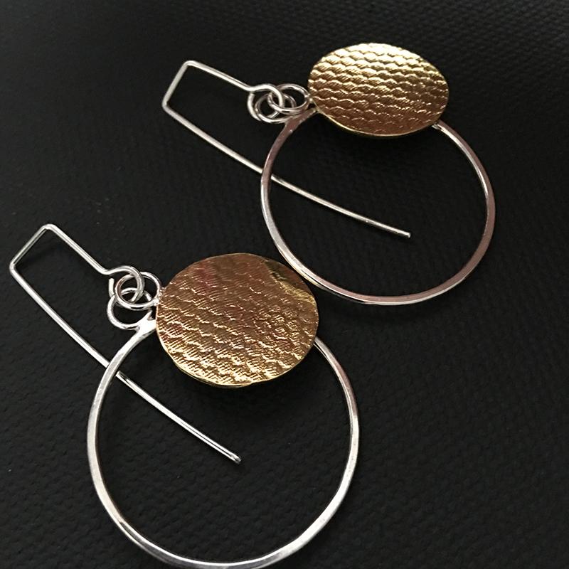 Layered Windows No. 2 Earrings – Double Circles