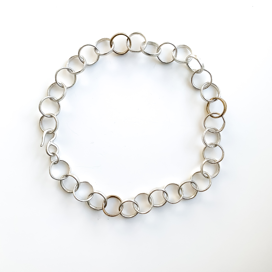 Organic Tales – Heavy Organic Circle Chain Necklace
