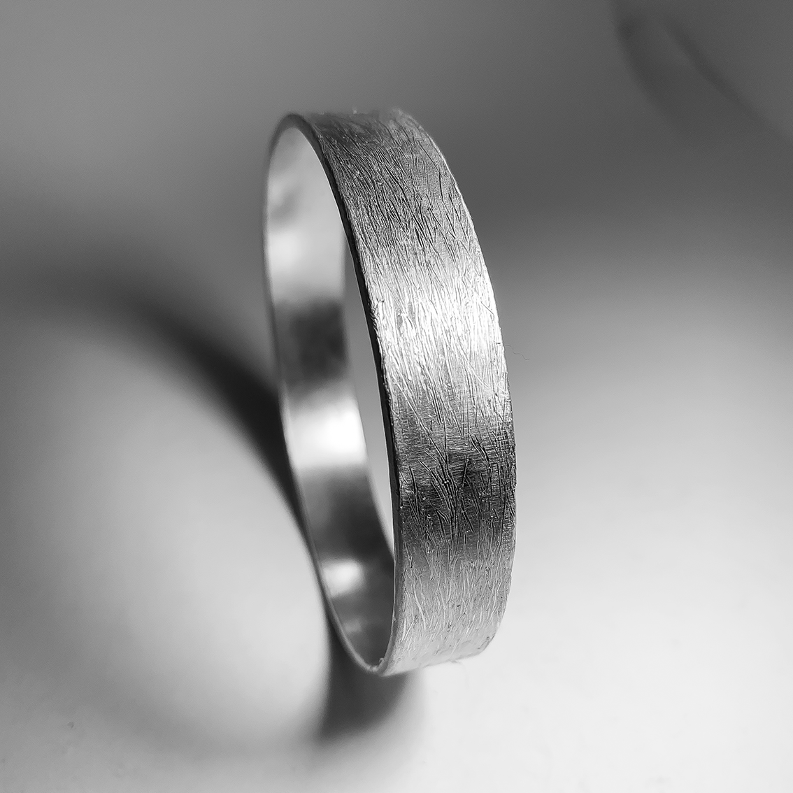 Heavy Textured Bangle – Unisex – Sterling Silver